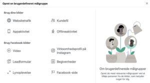 Facebook brugerdefinerede målgrupper