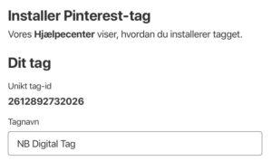 Pinterest Tag ID